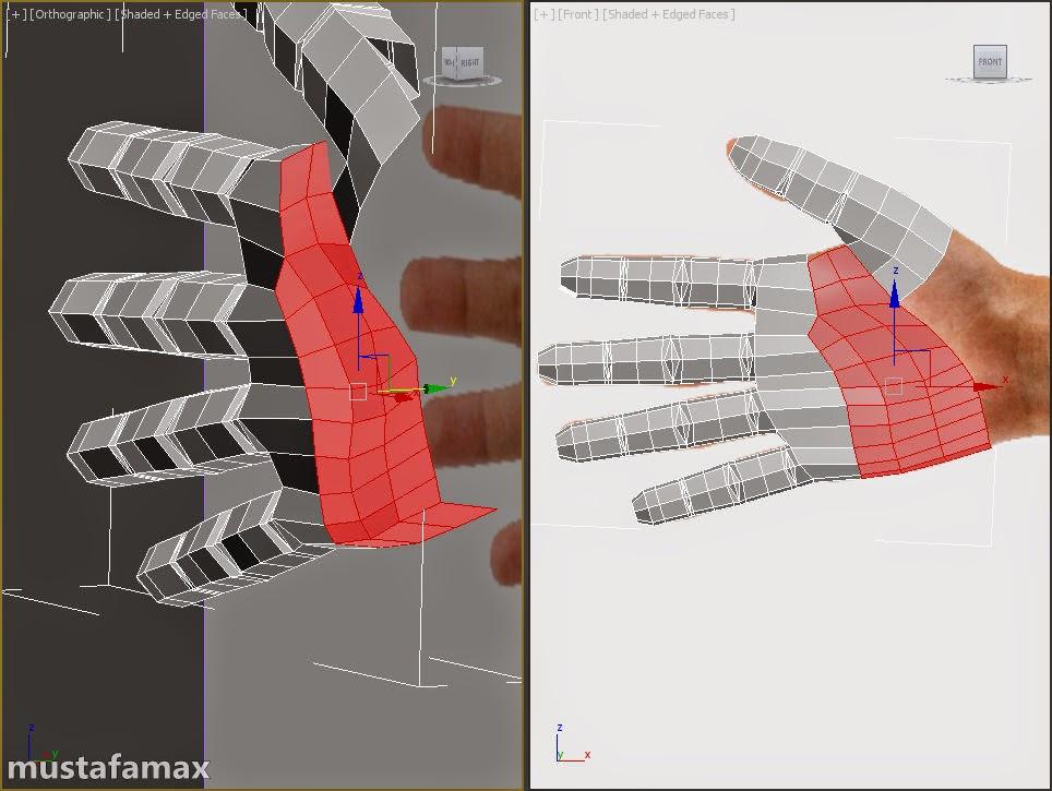 5-تصميم واكساء وتحريك شخصية في 3D MAX 2015
