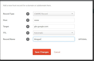 [Custom] Setting Domain Blogspot Namecheap
