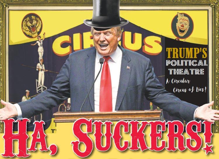 Trump's Political Theatre Makes Lies Abundant Again.