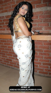 Divya Dwivedi in low hip saree