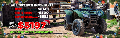 2013 TRX420FM RANCHER. SOUTHERN HONDA POWERSPORTS. CHATTANOOGA TN.