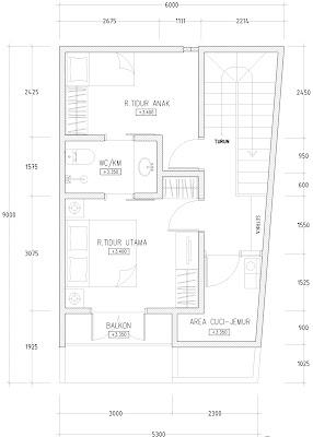 desain denah rumah minimalis di lahan sempit   desain