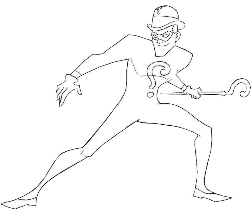 Another The Riddler Coloring Pages