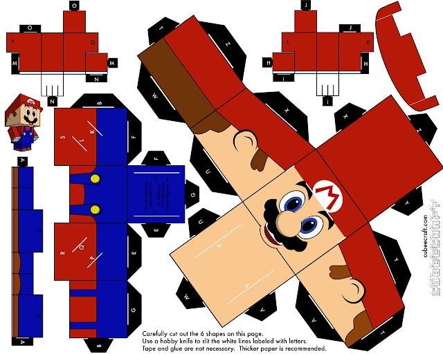 Papercraft Super Mario Bros. para montar