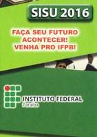 IFPB vai ofertar 1300 vagas no Sisu 2016.1