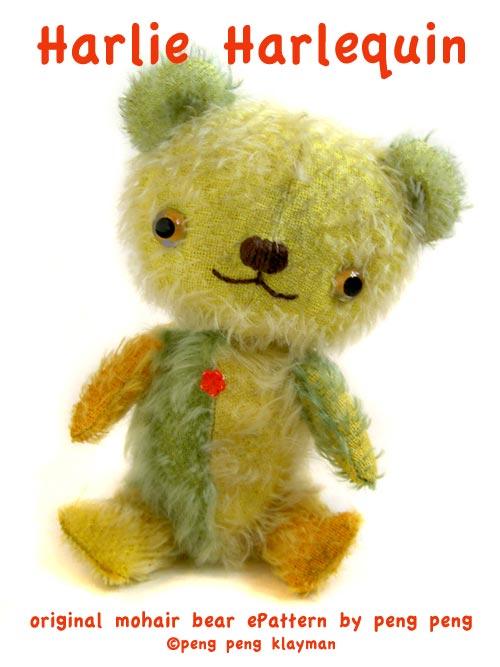 harlequin mohair bear