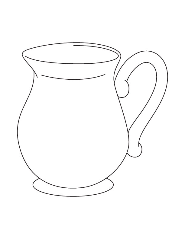 Line Drawing Jug : Clip art line drawing kindergarten worksheet guide