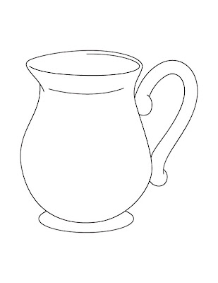 Line Drawing :: Clip Art :: Jug