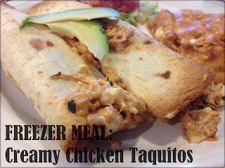Creamy Chicken Taquitos Freezer Meal