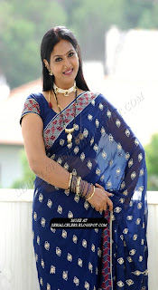 Raksha Aunty in transparent saree