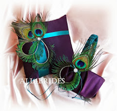 Purple and Teal peacock set