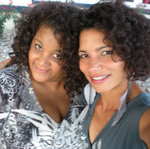 Rockin the curls with my sister!