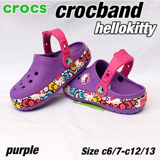 crocs anak hellokitty purple