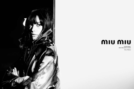 Stacy Martin by Steven Meisel for Miu Miu