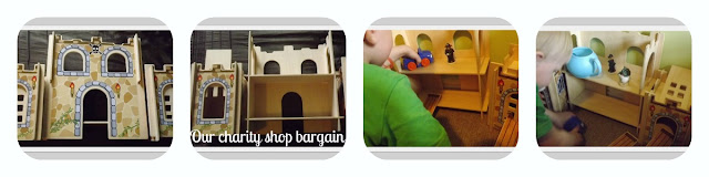 Charity shops, rainy day, activities, make believe, cars, castle, fun, imaginary play, play