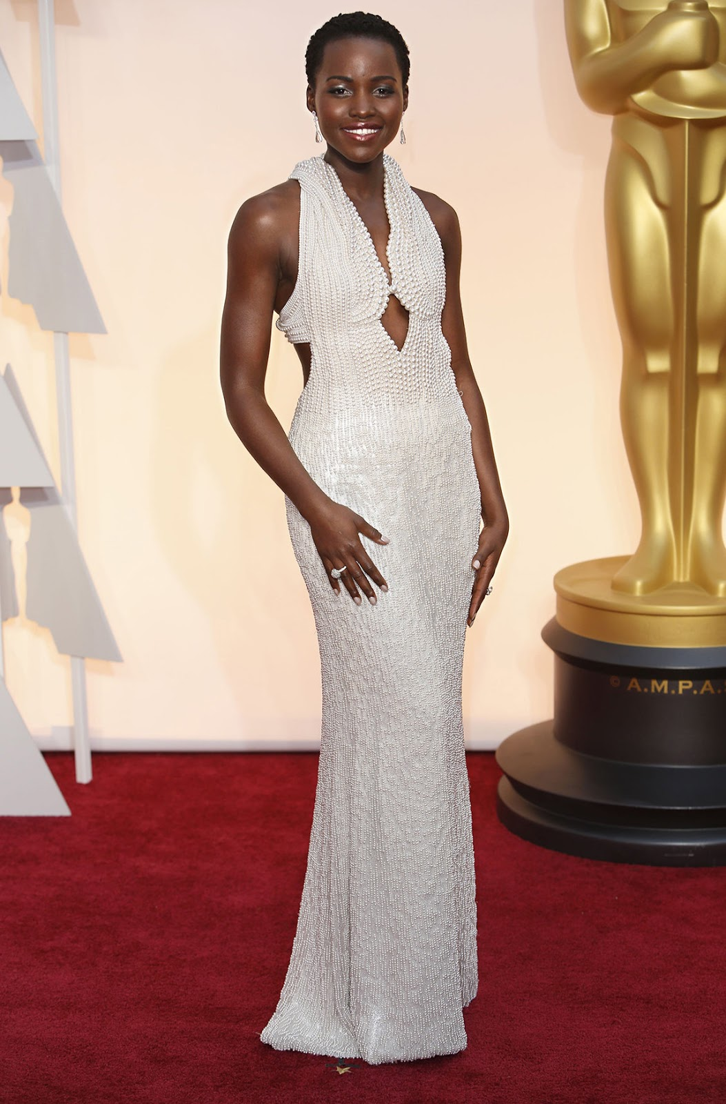 Lupita Nyong'o in Calvin Klein at the Oscars 2015