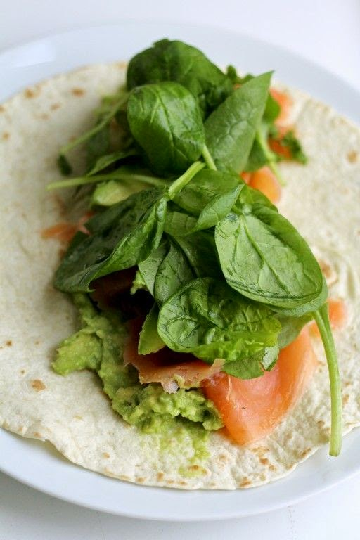 zalm avocado wrap