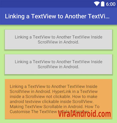 Android Example: Show and Hide a TextView when Users Click Another TextView Inside ScrollView