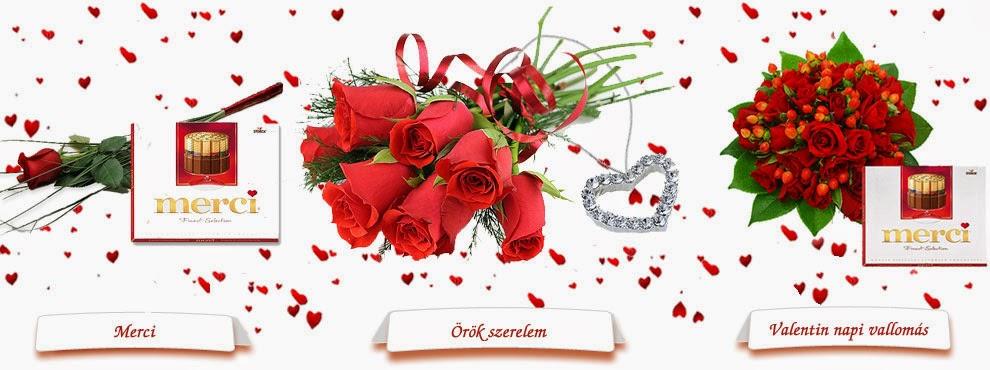 Valentin napi virágküldés