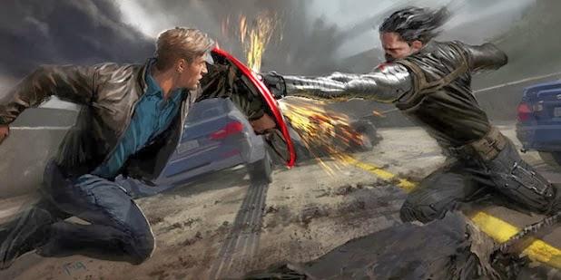Capitão América enfrenta o Soldado Invernal no segundo filme da franquia