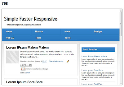 Template Simple Faster Responsive
