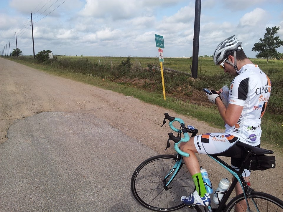 bike route, lost in katy, Texas