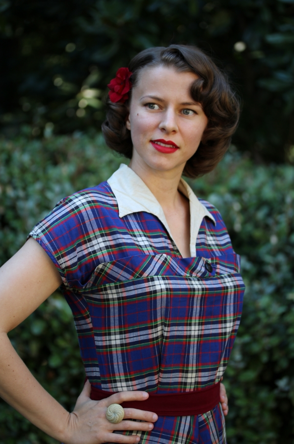 Outfit #4 of My Vintage Autumn Recap #1940s #style #vintage #fashion #plaid