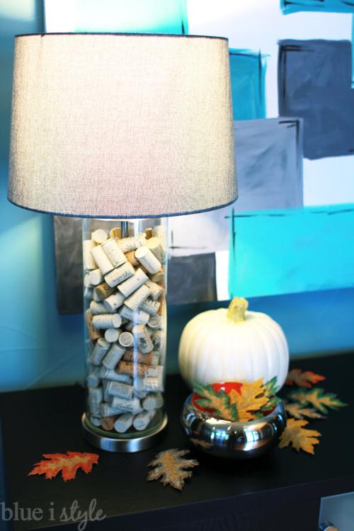 seasonal style fall home tour blue i style. Black Bedroom Furniture Sets. Home Design Ideas