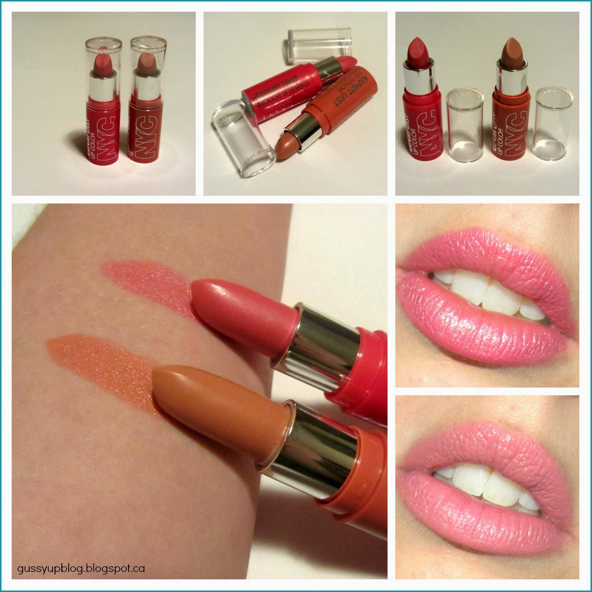 Review and Swatches: NEW NYC Expert Last Lipsticks in Modern Love and Smooch
