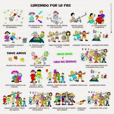 http://www.orientacionandujar.es/2014/01/12/hoy-cantamos-por-la-paz-cancion-para-trabajar-en-clase-con-fichas-para-colorear-y-musicograma/