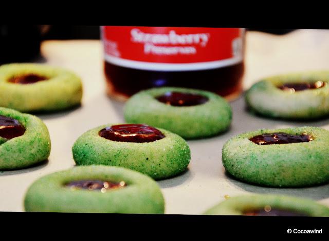 Strawberry Thumbprint Cookies