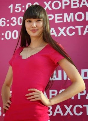 Sabina Altynbekova dress pink model
