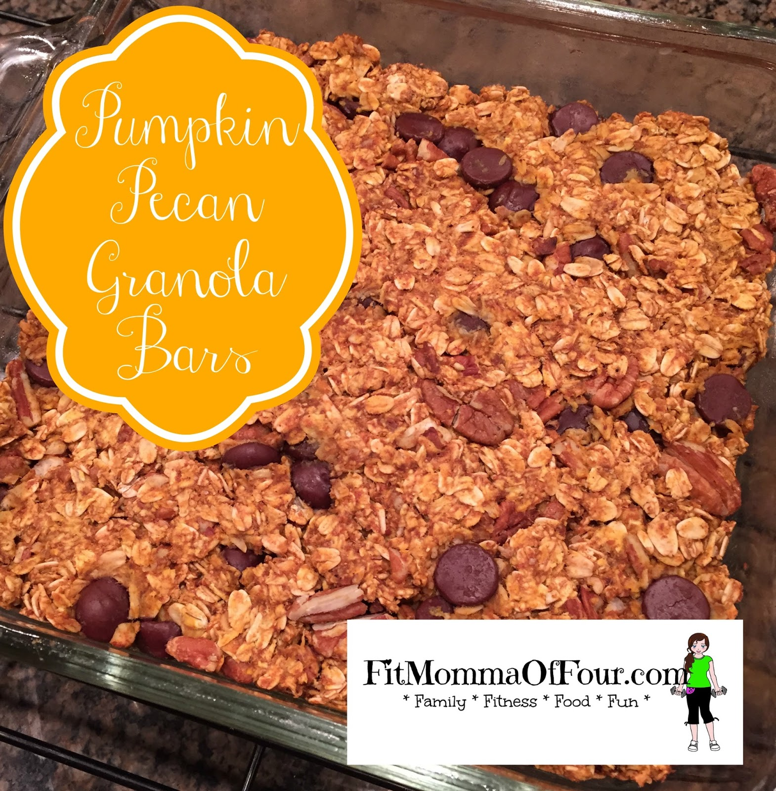Fit Momma of Four: Pumpkin Pecan Granola Bars