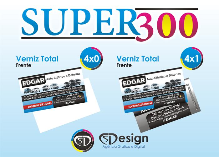 Já Disponível na Loja CS Design - Cartões de Visita da Linha Super300