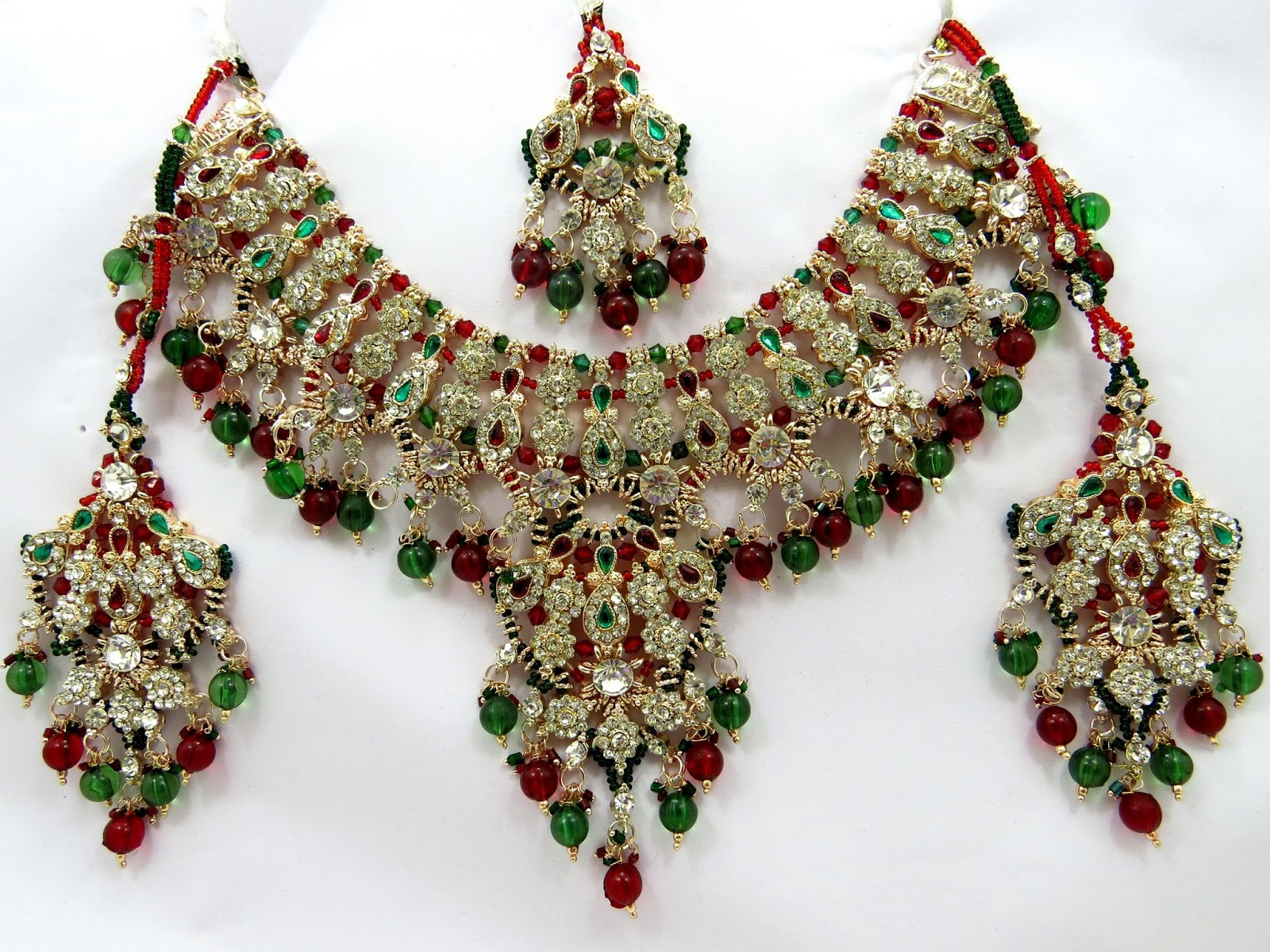 ad wedding stone jewelry ethnic jewellery party indian women index fashion bridal earrings ruby