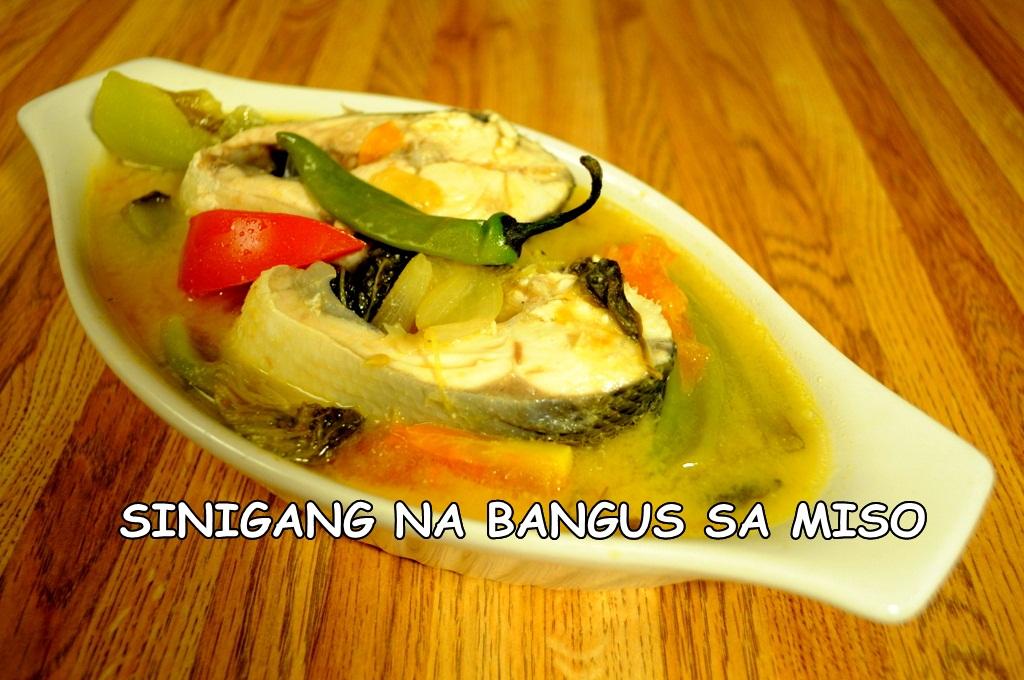 way of cooking sinigang or sour soup. Sinigang na bangus sa miso ...