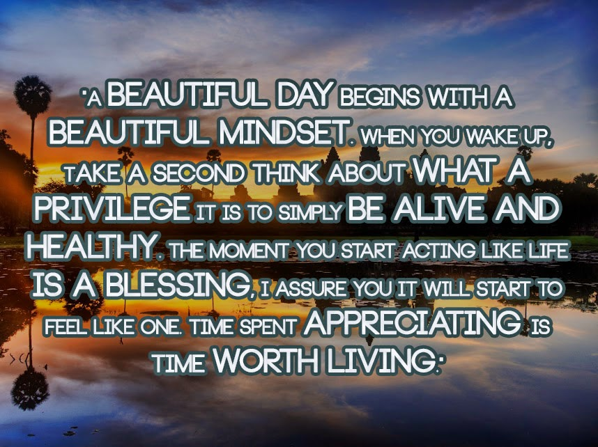 A Beautiful Day Begins With A Beautiful Mindset Quote Anonymous ART o...