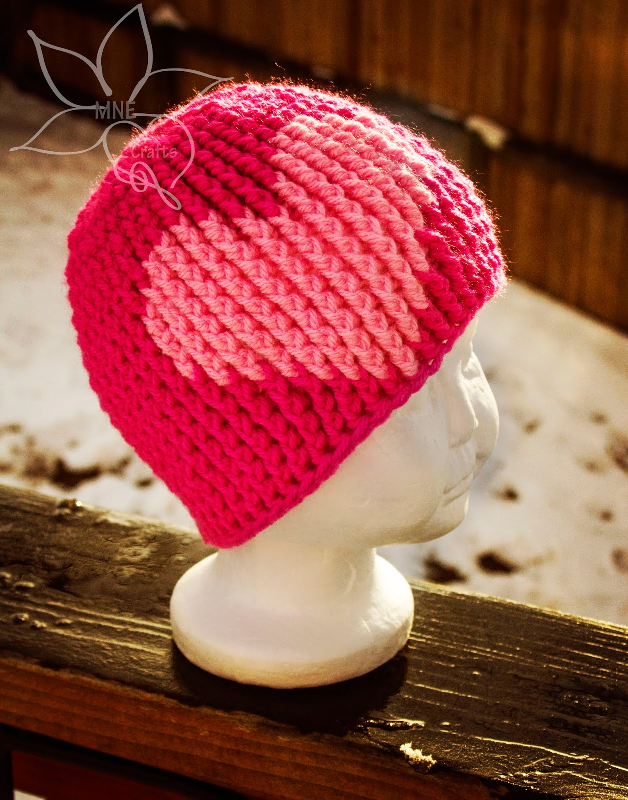 Free Crochet Heart Hat Pattern : Fiber Flux: Hearts A Flutter! 60 Crochet Heart Projects