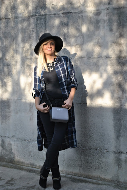 outfit maxi camicia maxi camicia indossata come soprabito come abbinare una maxi camicia abbinamenti maxi camicia come abbinare un abito camicia camicia stampa tartan how to wear check maxi shirt how to combine maxi shirt mariafelicia magno fashion blogger colorblock by felym fashion blog italiani fashion blogger italiane blogger italiane di moda outfit autunnali outfit ottobre 2015 fall outfit fashion bloggers italy