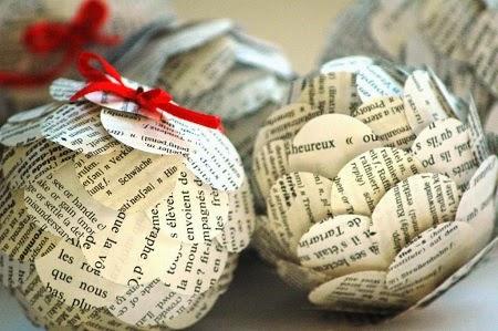 adornos de navidad con papel reciclado ii parte