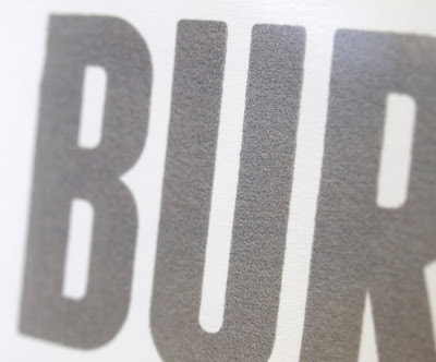 Burn Down the Disco Screen print closeup