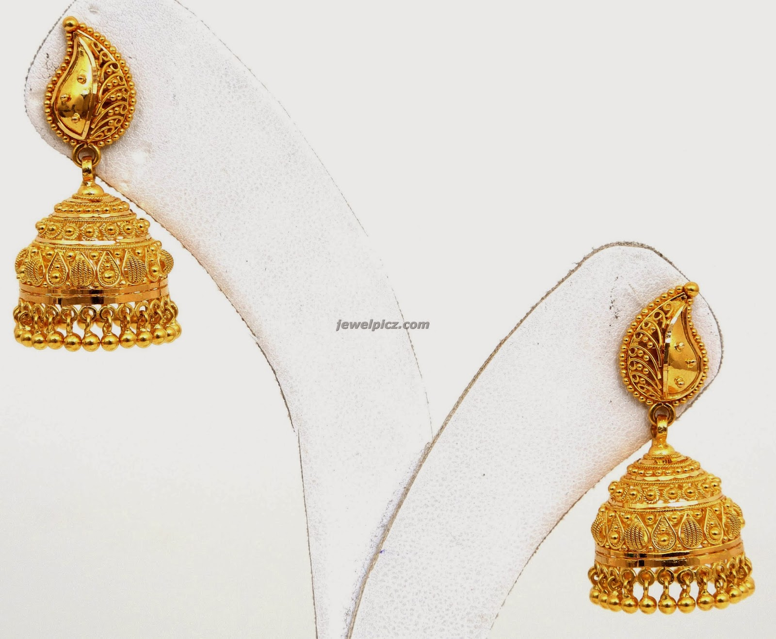 Gold jhumka earrings hyderabad ~ beautify themselves with earrings