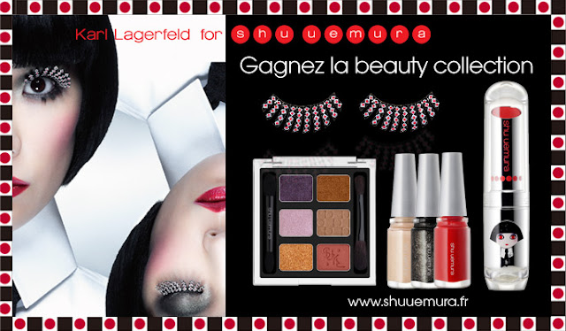 12 gammes de la collection beauté Karl Lagerfeld for Shu Uemura