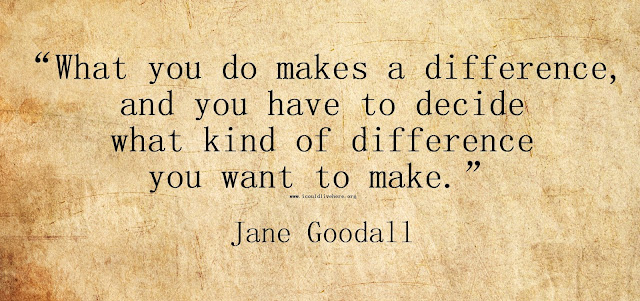 Inspirational quote by Jane Goodall - Make a difference