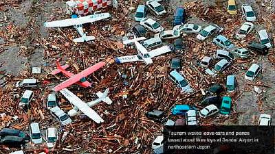 Tsunami, Japan via CNN