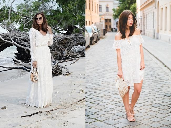 white Hippiedress,  weißes Hippiekleid, Fashiioncarpet Blog, Vicky Heiler, Bikinis and Passports Blog