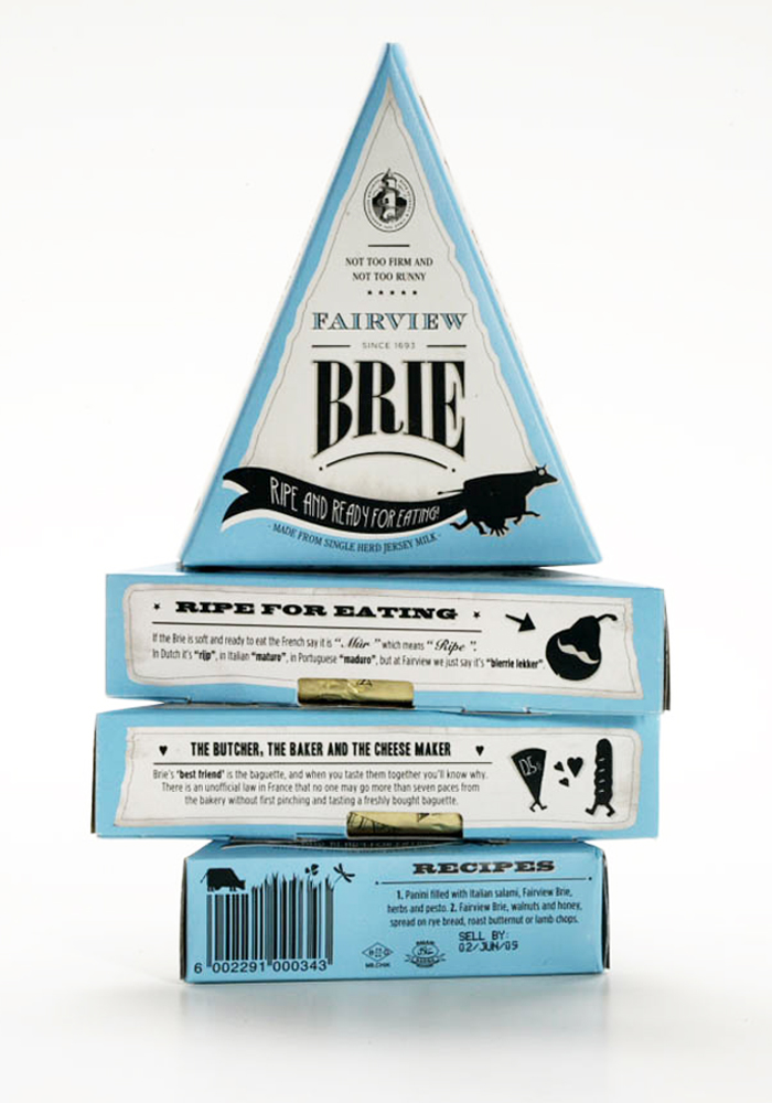 Fairview cheese packaging design