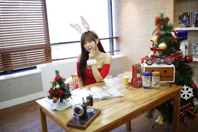 4 Ryu Ji Hye - Christmas - very cute asian girl-girlcute4u.blogspot.com