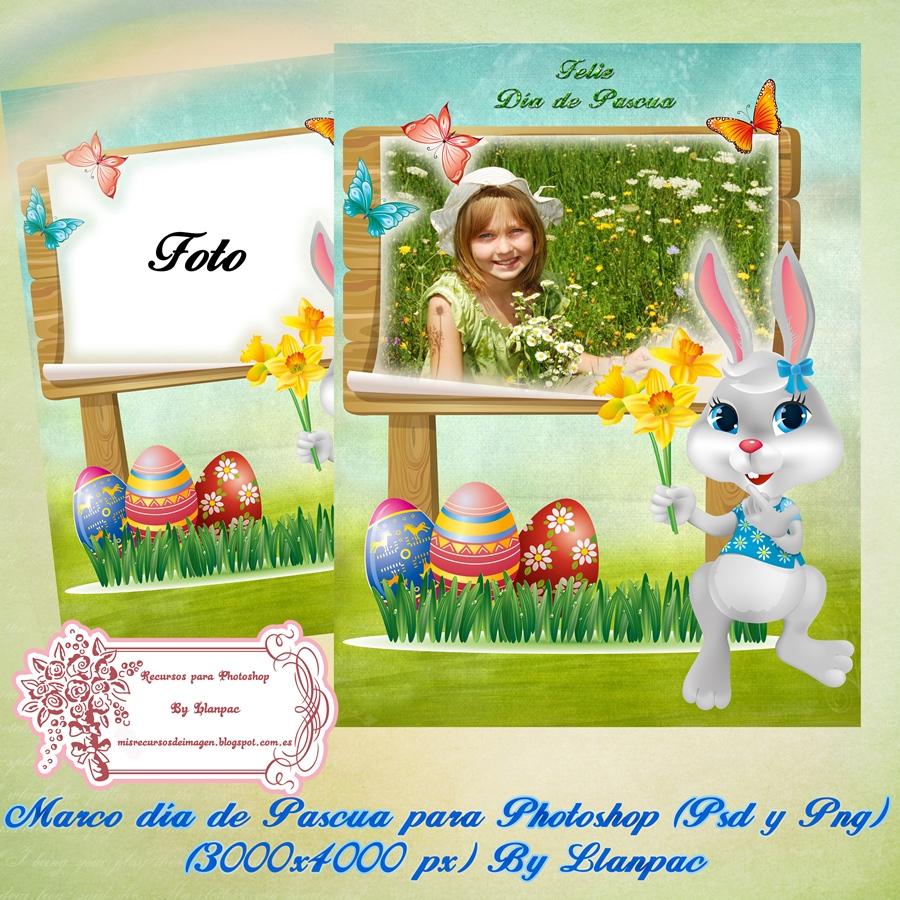 Marco dia de Pascua para Photoshop (Psd+Png)