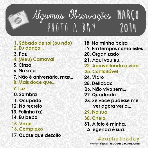 #aophotoaday março 2014